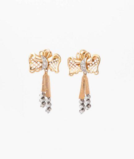 """Boucles d'oreilles anciennes diamants """"Rukmini"""" product Bijoux Anciens - Caillou Paris"""
