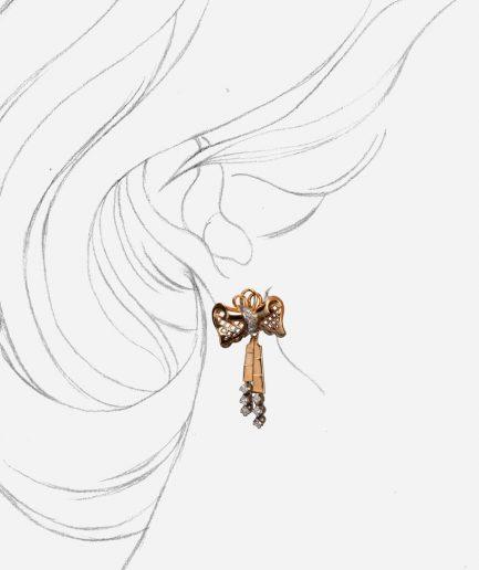 Caillou Paris - Boucles d'oreilles anciennes Rukmini porter