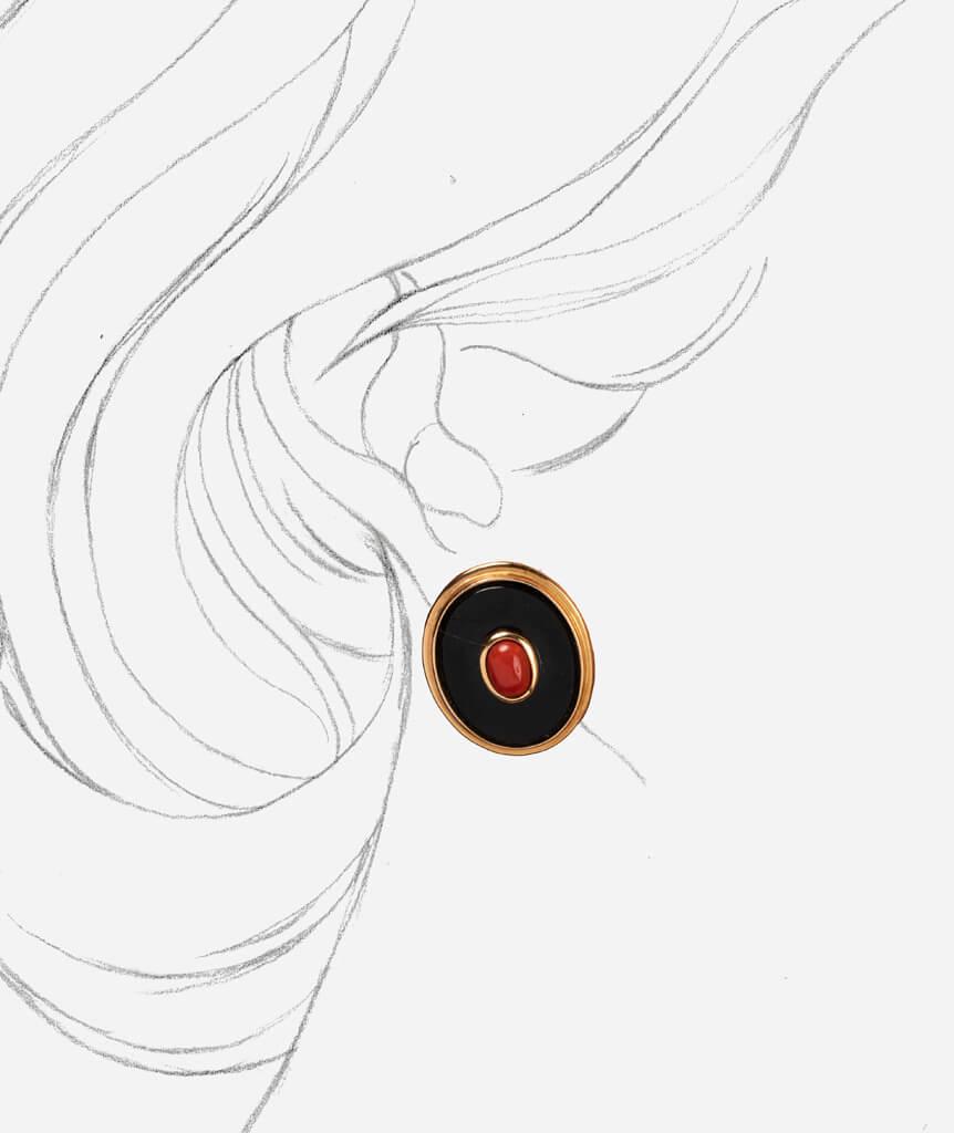 Caillou Paris - Boucles d'oreilles anciennes a clip Keir porter