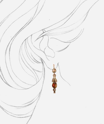 Caillou Paris - Boucles d'oreilles anciennes citrines Arpina porter