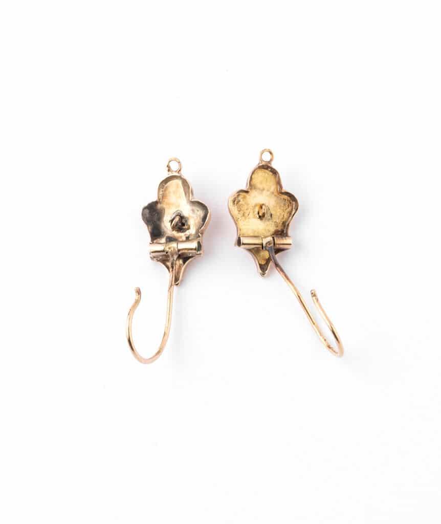 Caillou Paris - Boucles d'oreilles anciennes or Goldie dos