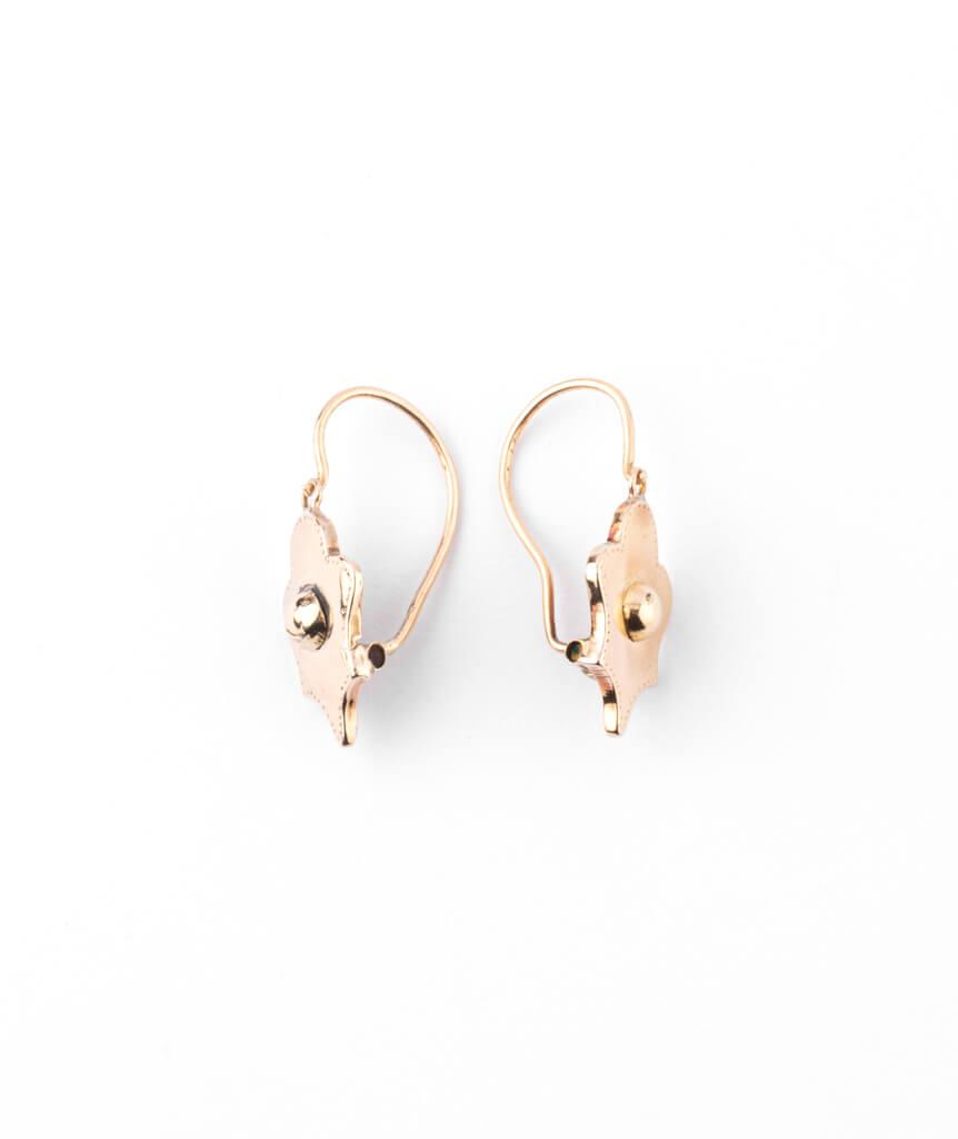 Caillou Paris - Boucles d'oreilles anciennes or Goldie profil