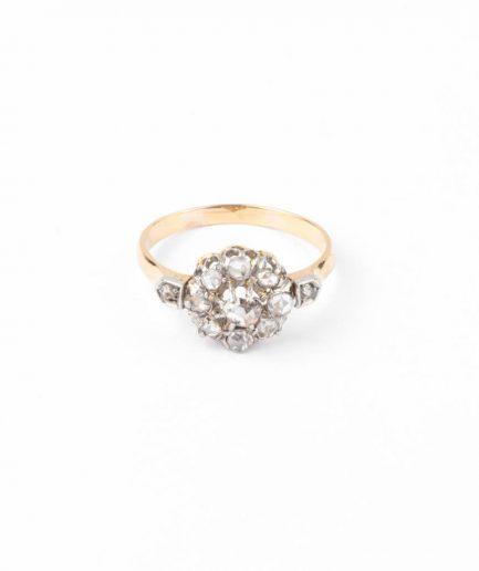 """Bague marguerite ancienne diamants """"Lubin"""" Bague Ancienne 1900-1920 Bijoux Anciens - Caillou Paris"""