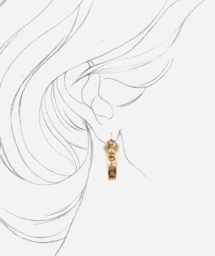 Caillou Paris - Boucles d'oreilles anciennes Anthea porter