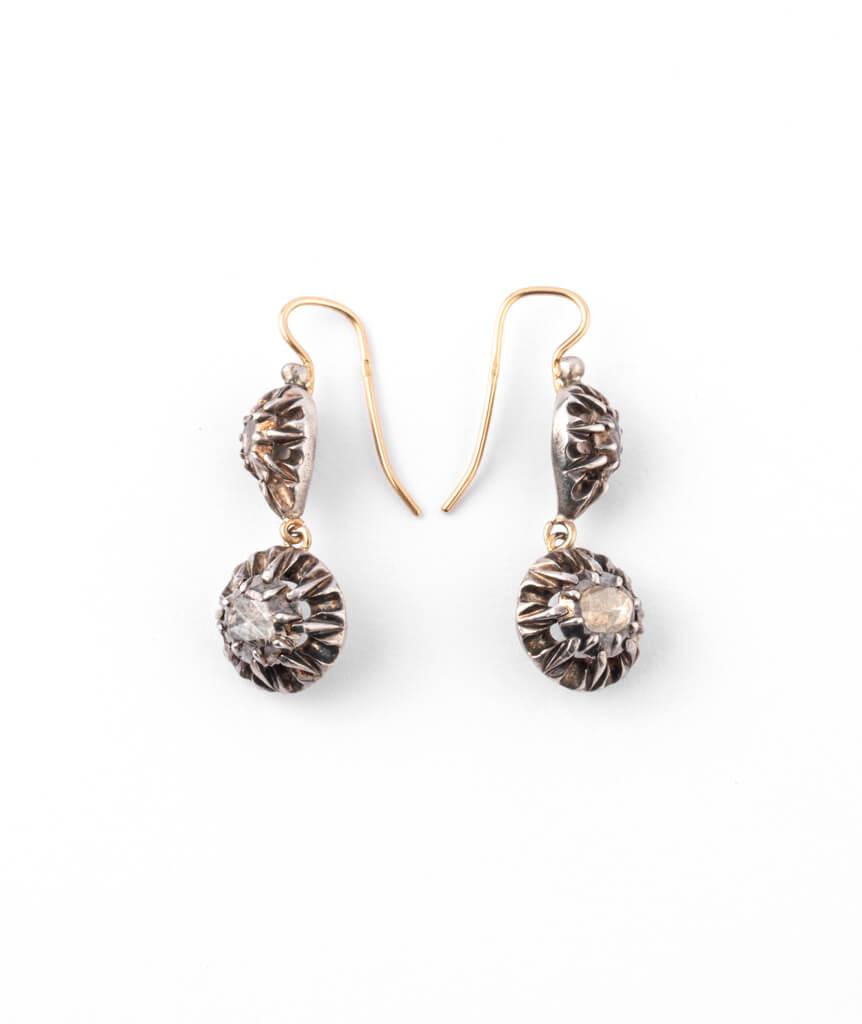 Caillou Paris - Boucles d'oreilles anciennes Urielle profil