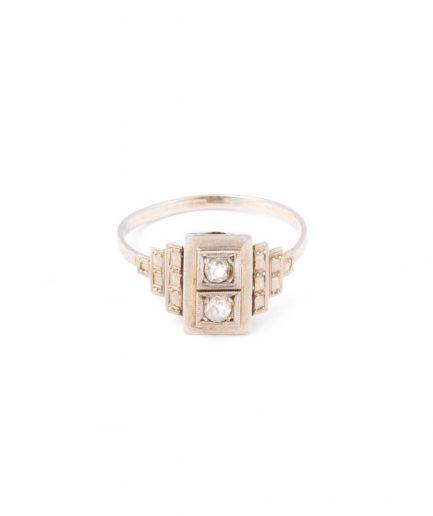 """Bague Art déco """"Alaba"""" Bague Ancienne Diamant Bijoux Anciens - Caillou Paris"""