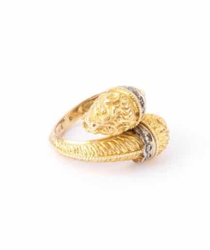 """Bague ancienne en or """"Arielle"""" product Bijoux Anciens - Caillou Paris"""