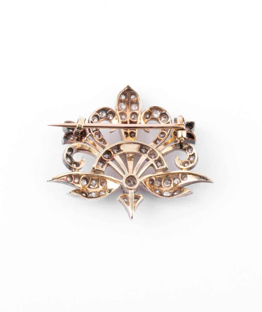 Caillou Paris - Broche Art nouveau diamant Merryl dos