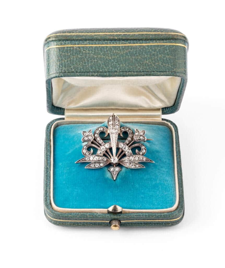 Caillou Paris - Broche Art nouveau diamant Merryl ecrin