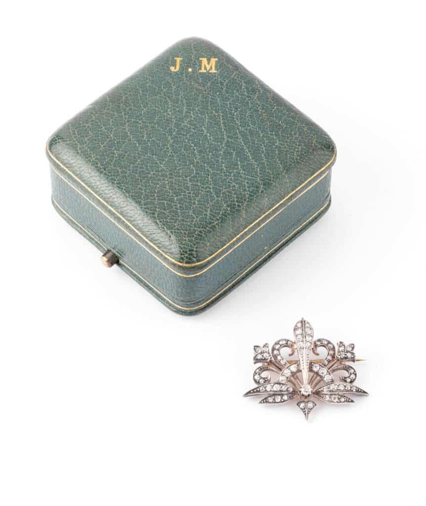 Caillou Paris - Broche Art nouveau diamant Merryl hors ecrin
