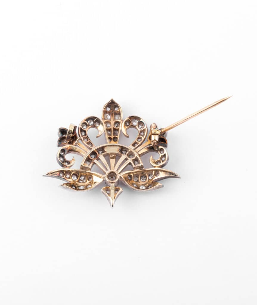 Caillou Paris - Broche Art nouveau diamant Merryl ouvert