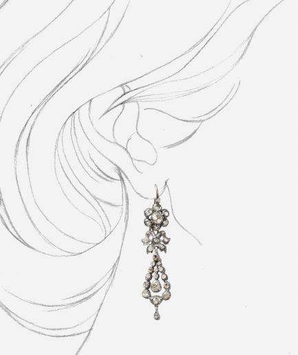 Caillou Paris - Pendants d'oreilles anciens argent Manutea porter