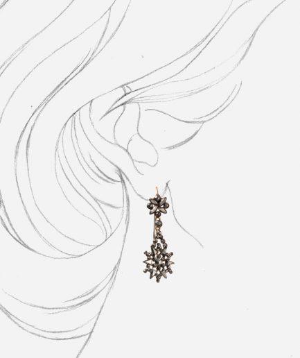 Caillou Paris - Pendants d'oreilles pointes d'acier Ioio porter