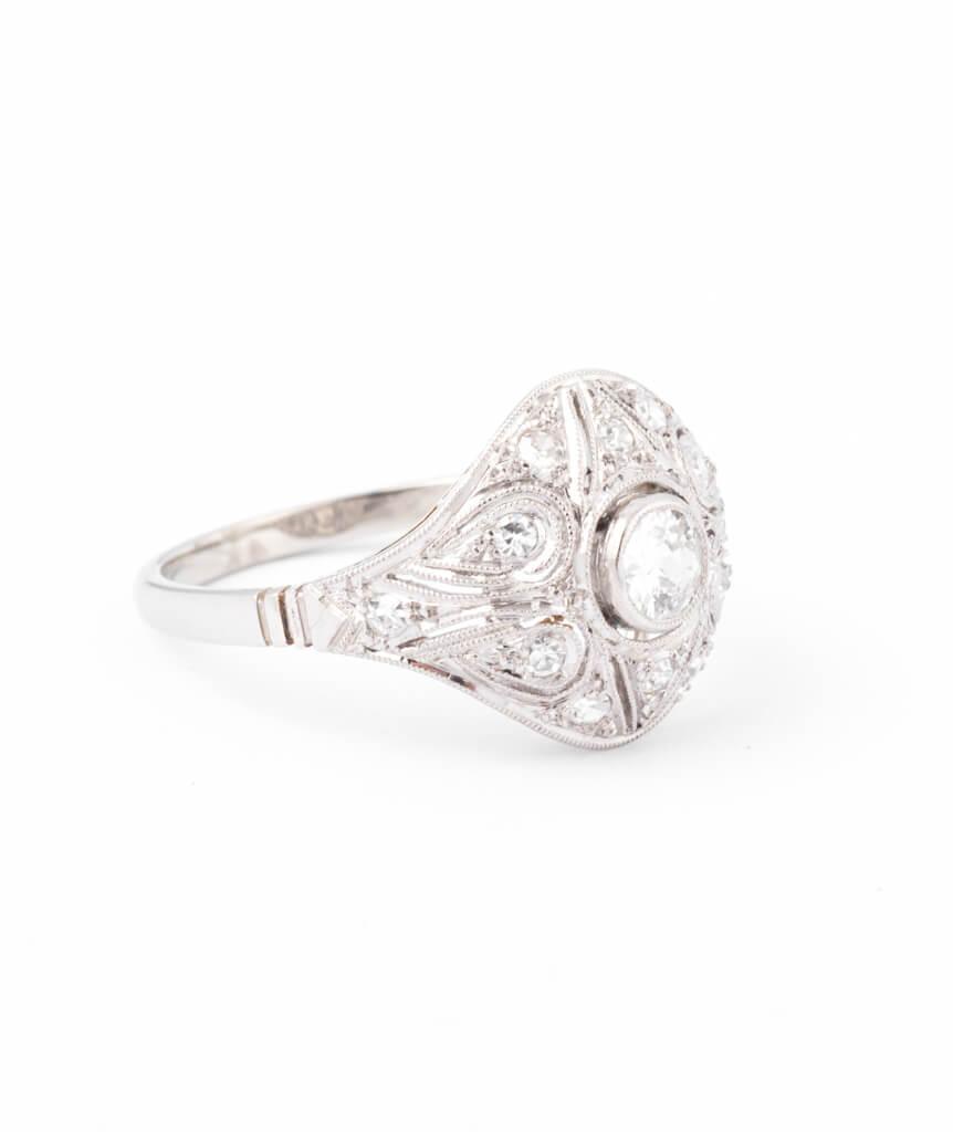 Bague ancienne diamants Inir droite