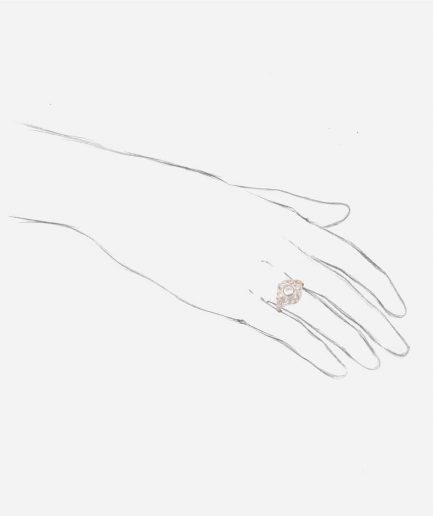 Bague ancienne diamants Inir porter