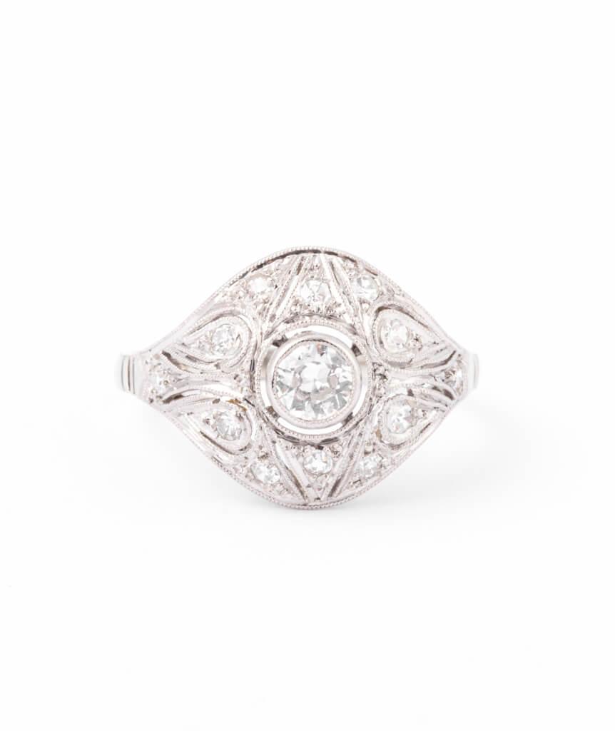 Bague ancienne diamants Inir