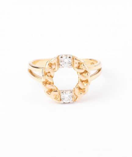"""Bague ancienne diamants """"Kékipi"""" Bijoux Anciens - Caillou Paris"""