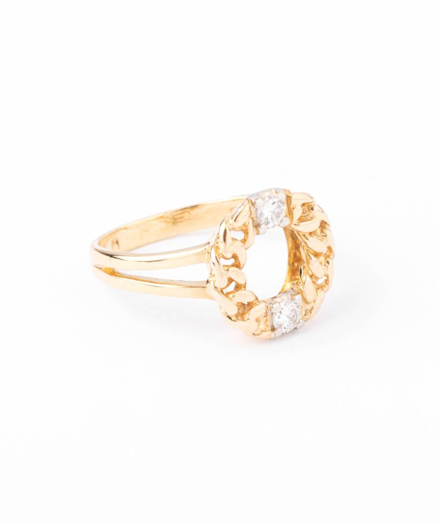 Bague ancienne diamants Kekipi droite
