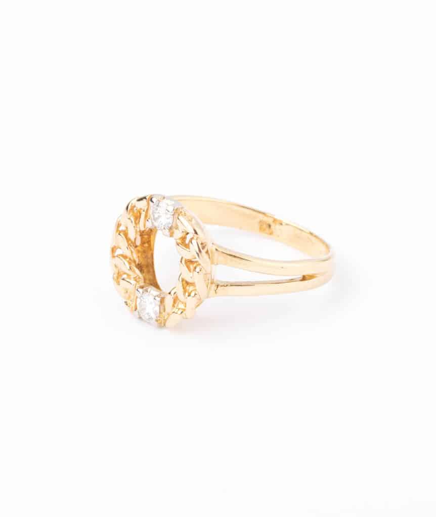 Bague ancienne diamants Kekipi gauche