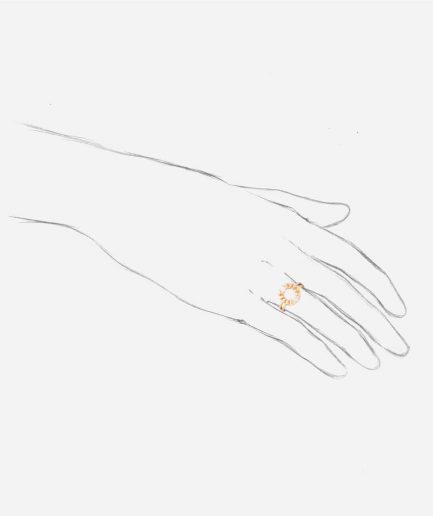 Bague ancienne diamants Kekipi porter