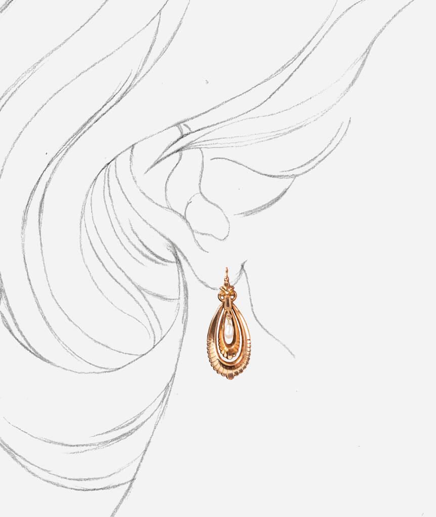 Caillou Paris - Pendants d'oreilles Icha porter