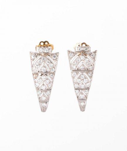 """Boucles d'oreilles Art déco """"Bela"""" product Bijoux Anciens - Caillou Paris"""