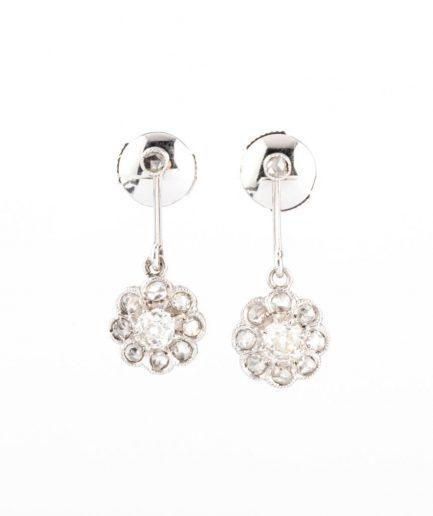 """Boucles d'oreilles anciennes diamants """"Mitalia"""" Boucles d'oreilles anciennes Or Bijoux Anciens - Caillou Paris"""