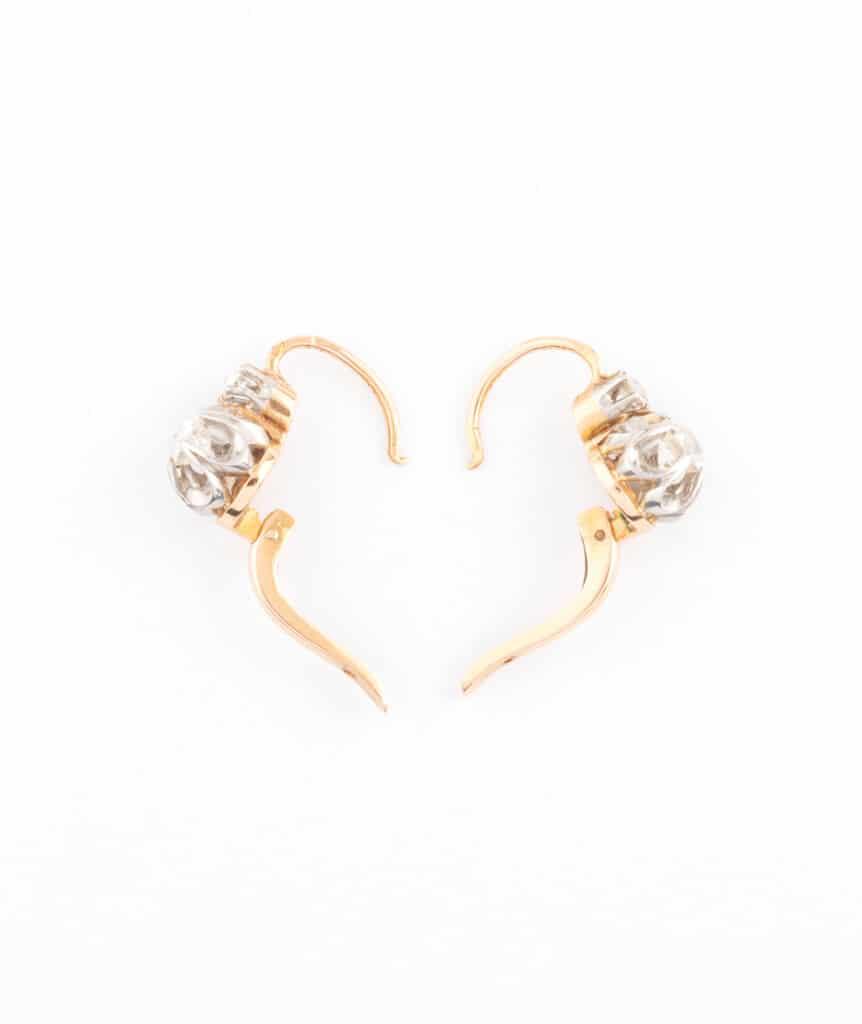 Caillou Paris - Dormeuses anciennes diamants Anuata ouvert