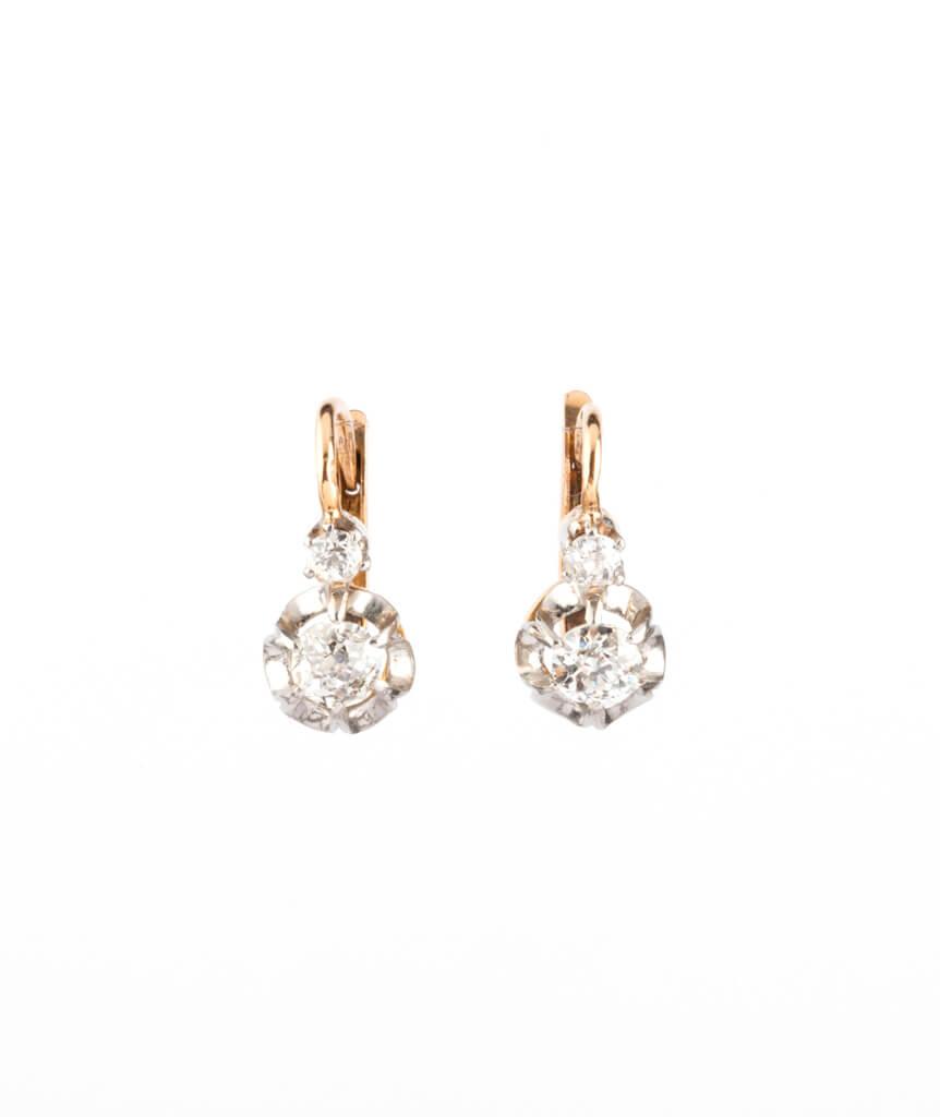 Caillou Paris - Dormeuses anciennes diamants Anuata