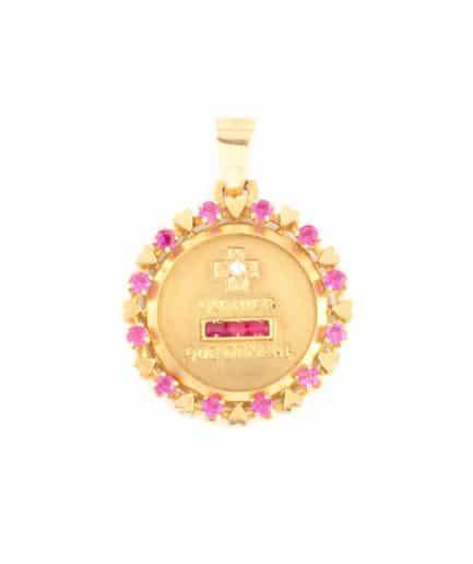 """Médaille """"plus qu'hier et moins que demain"""" Bijoux Anciens - Caillou Paris"""