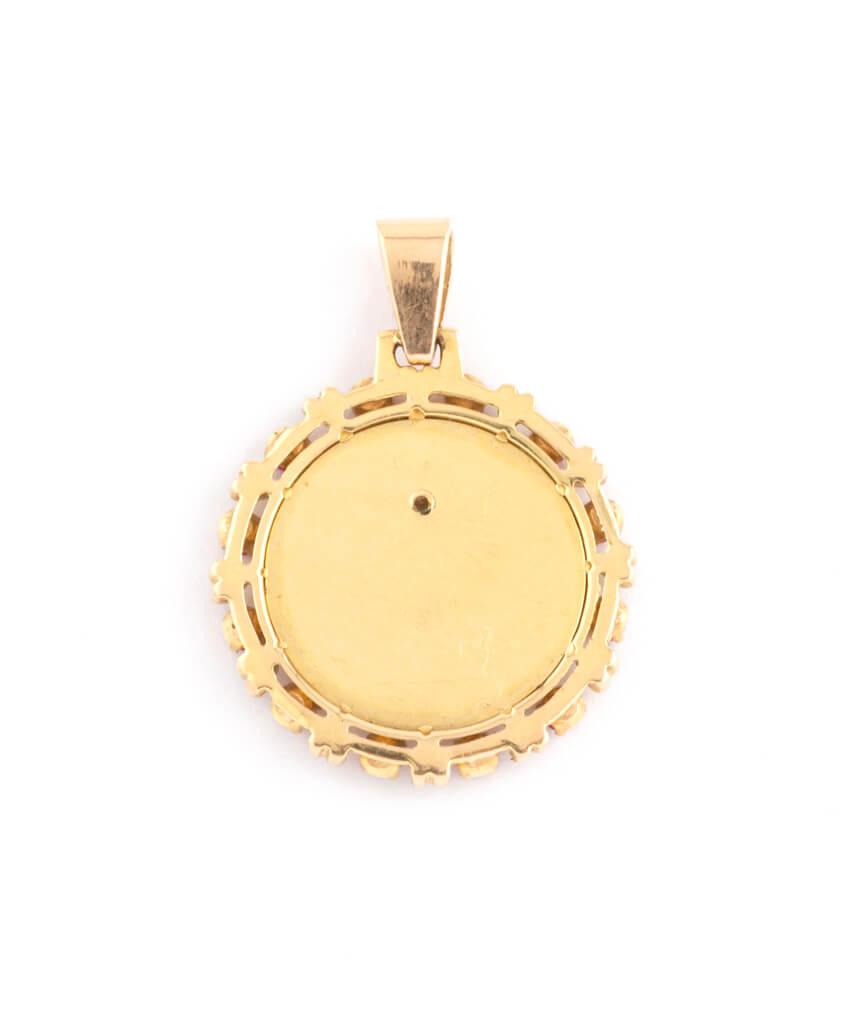 """Médaille """"plus qu'hier et moins que demain"""" dos"""