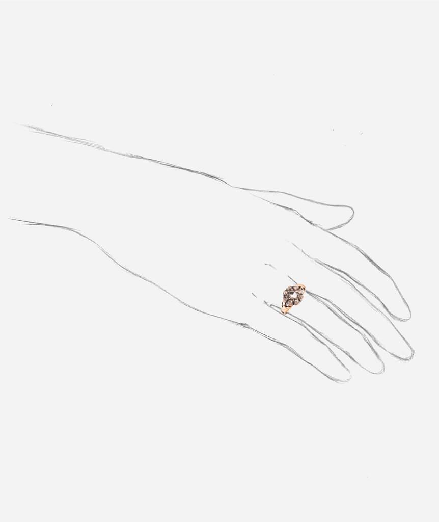 Bague ancienne diamants Glain porter