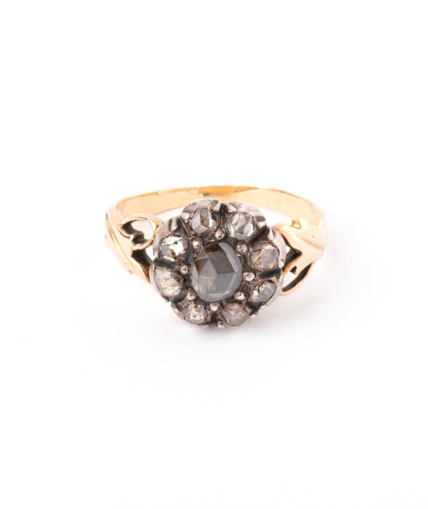 Bague ancienne diamants Glain