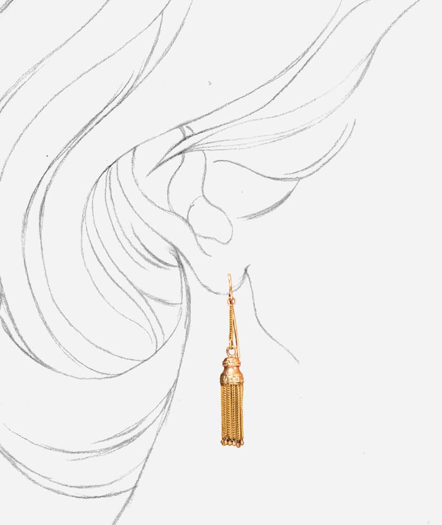 Caillou Paris - Boucles d'oreilles anciennes Napoleon III Lacey porter
