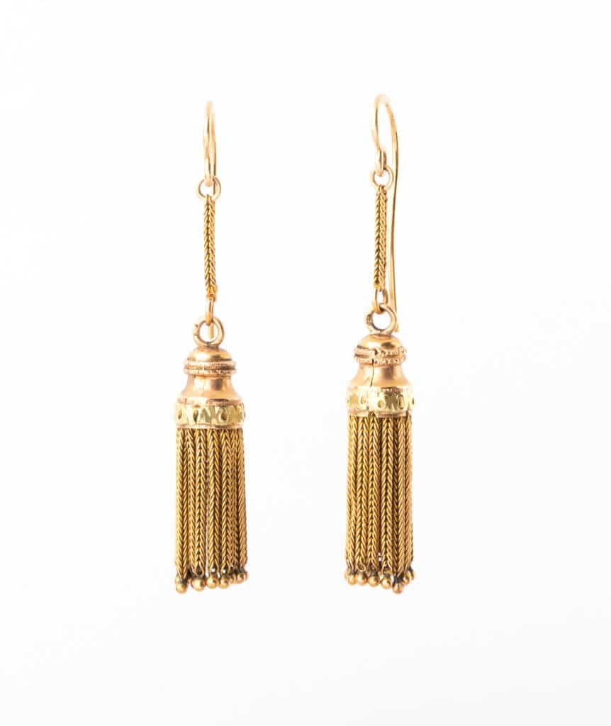 Caillou Paris - Boucles d'oreilles anciennes Napoleon III Lacey