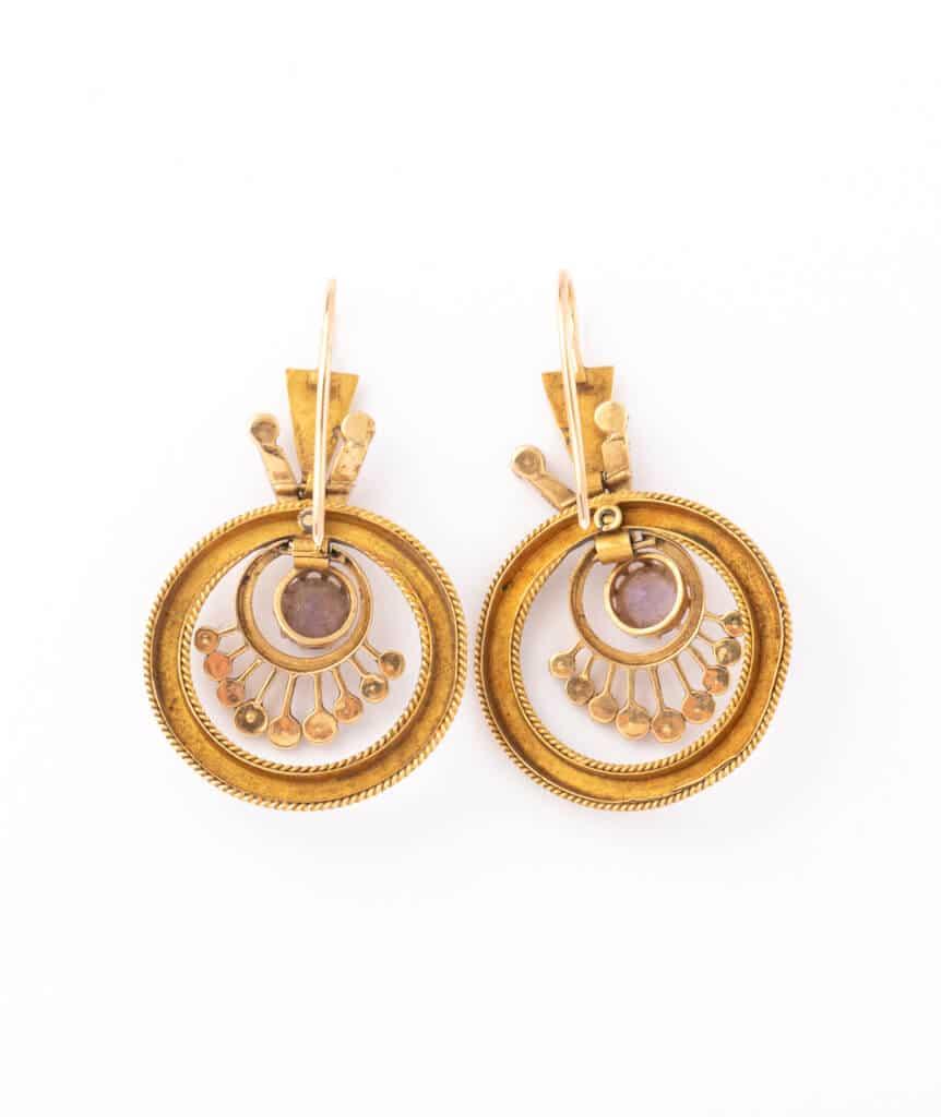 Boucles d'oreilles Napoléon III Kenan dos